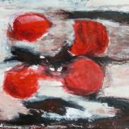 tomates, huile sur papier, Blaize