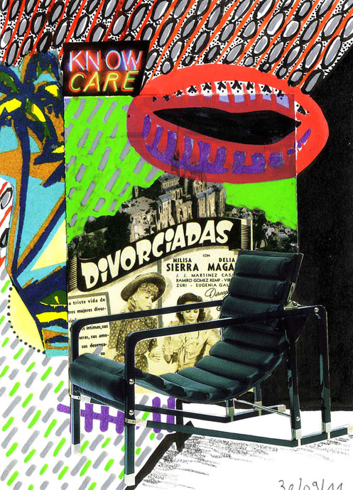 divorciadas, collage, posca, Blaize