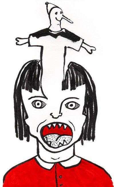 marionnette, dessin, encre, Blaize
