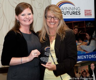 This is an event photograph that shows, whenever possible, we include the name of an organization as we compose the photograph - makes for instant recognition at this Winning Futures Award Ceremony.