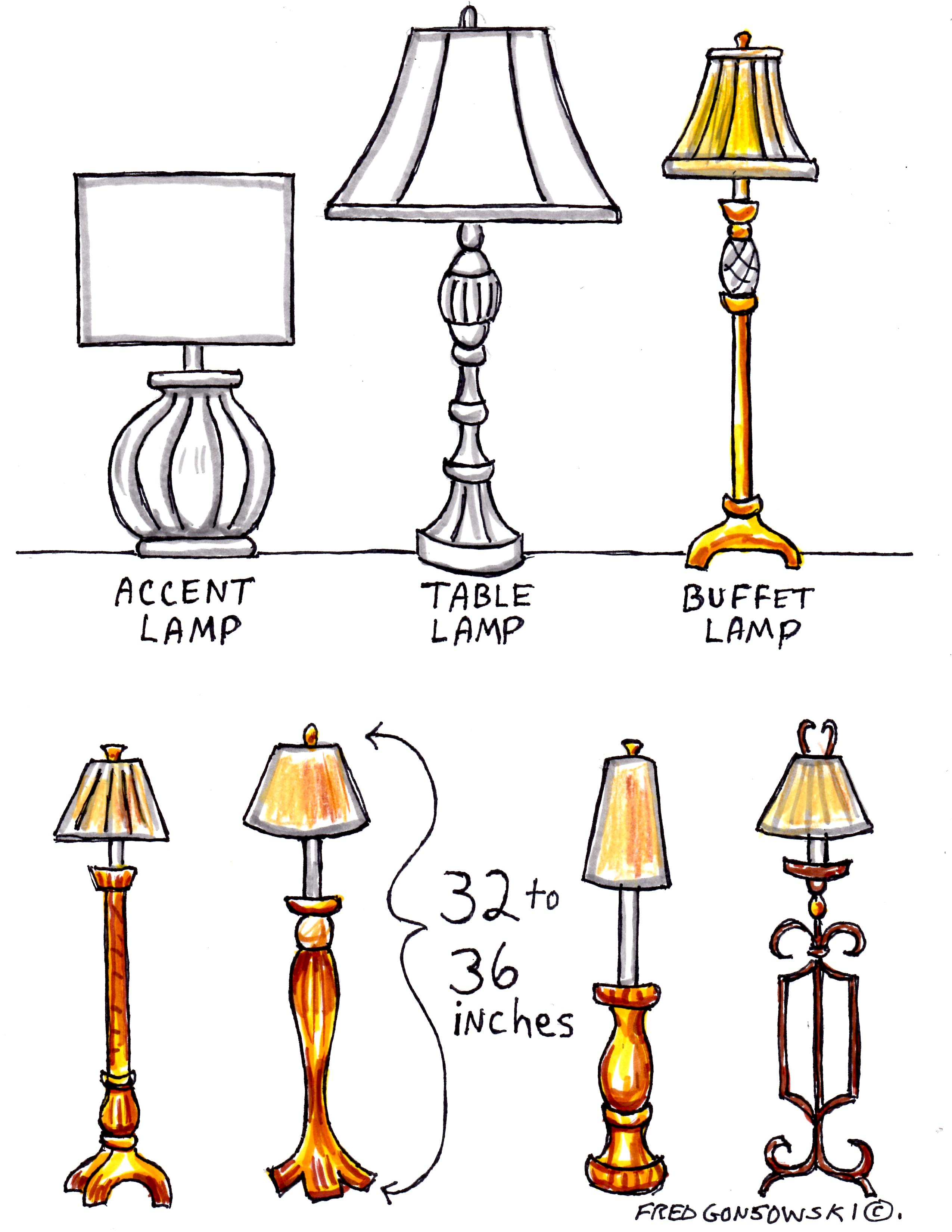 interior decorating with buffet lamps