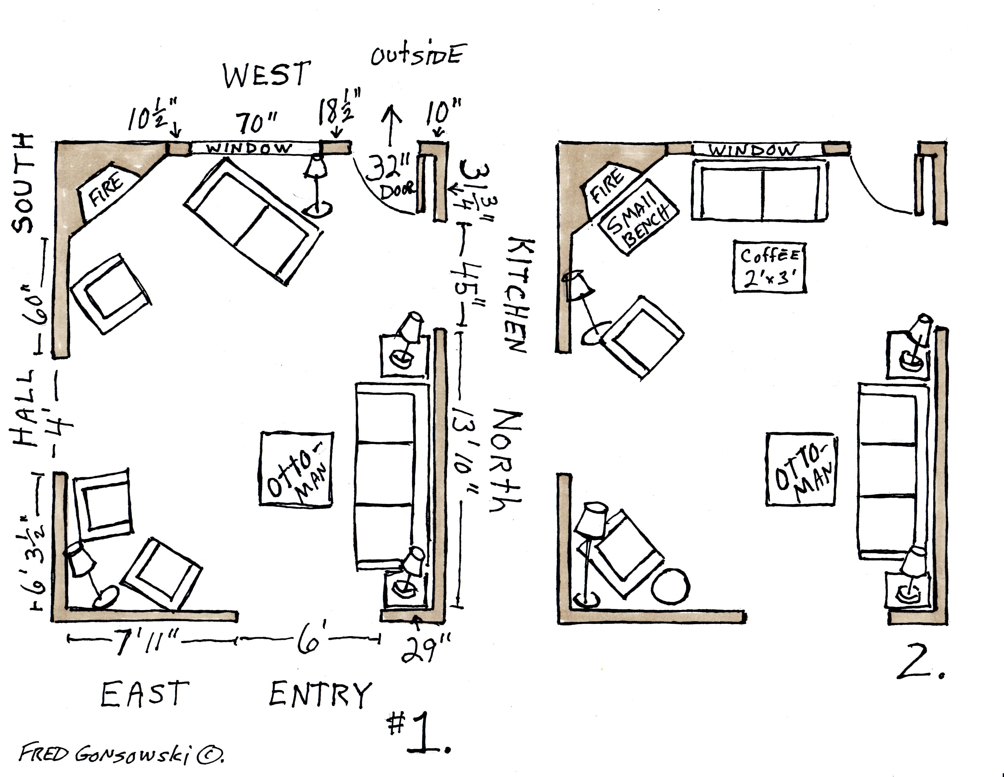 Arranging Furniture In A 16 Foot By 20 Foot Living Room With