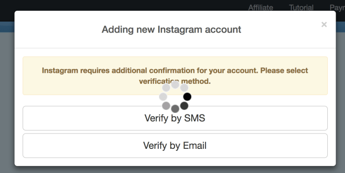 Instazood Account Verification