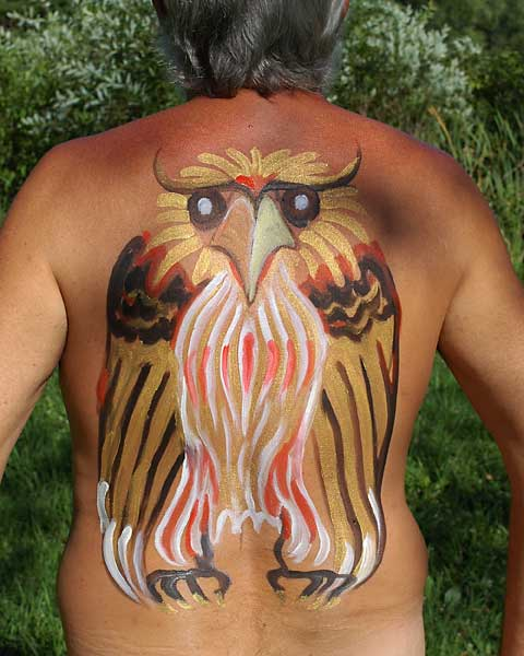 Falcon, 2005, bodypaint and photo by Fred Hatt
