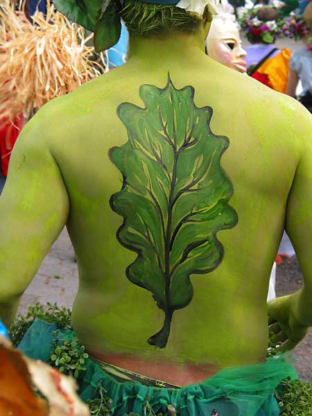 Green Man, 2004, bodypaint and photo by Fred Hatt