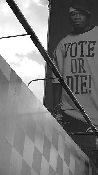 Vote or Die, November, 2004, photo by Fred Hatt