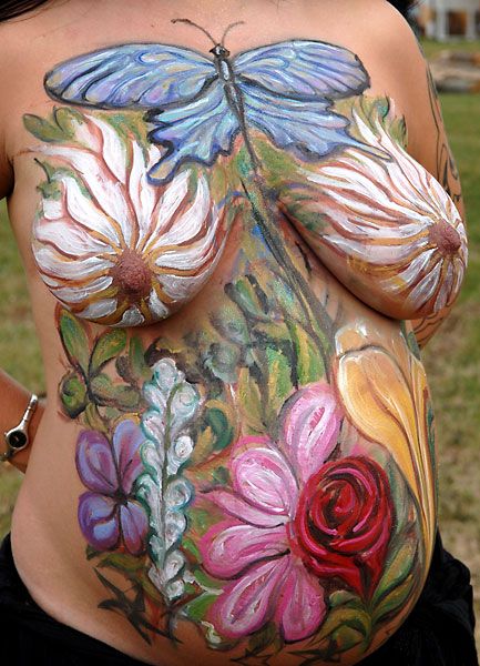 Garden, 2007, bodypaint and photo by Fred Hatt