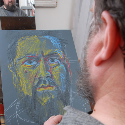 Self, 2009, by Fred Hatt, in progress at 14:30