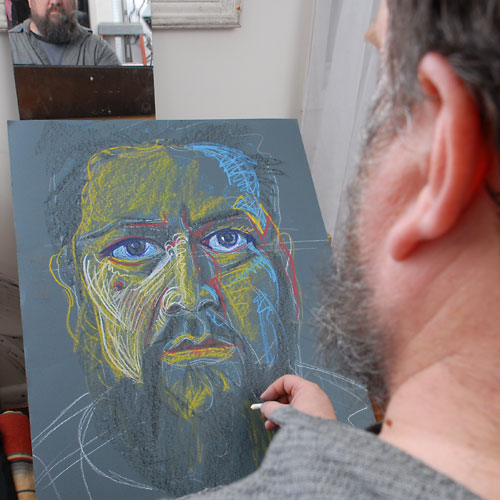 Self, 2009, by Fred Hatt, in progress at 18:00