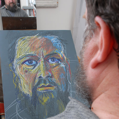Self, 2009, by Fred Hatt, in progress at 23:00