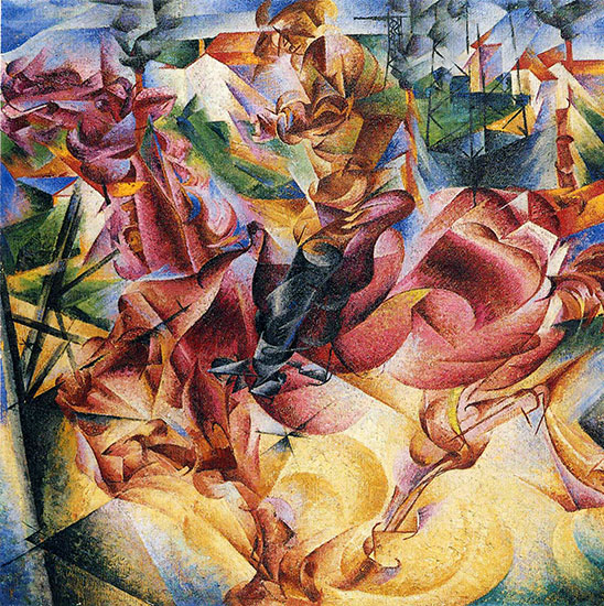 Elasticity, 1912, by Umberto Boccioni