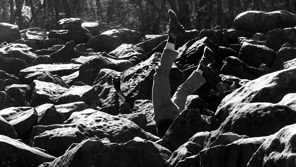 "Still from ""Ringing Rocks"", 2011, video edited by Fred Hatt"