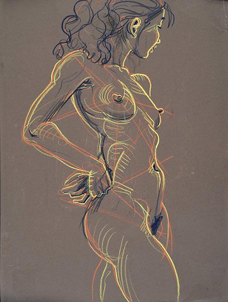 Hands on Sacrum, 2013, by Fred Hatt