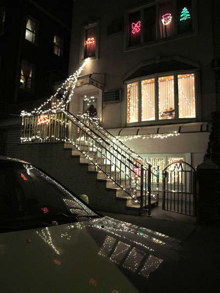 Christmas Lights, 2010, photo by Fred Hatt
