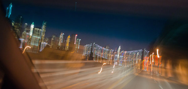 Expressway Lights, 2013, photo by Fred Hatt