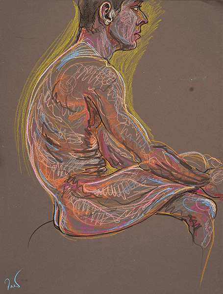 Seated Side, 2013, by Fred Hatt