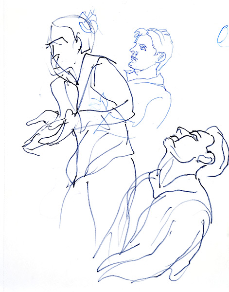 Magic quick poses 1, 2013, by Fred Hatt