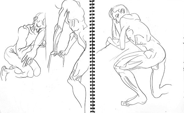 Terry quick poses 2, 2013, by Fred Hatt