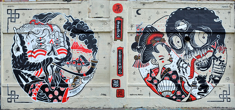 Mural by The Yok & Sheryo, 5 Pointz, photo by Fred Hatt