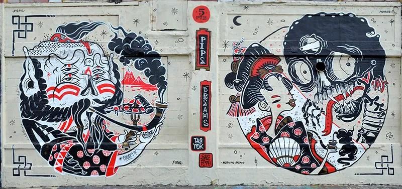 Mural by The Yok & Sheryo, 5 Pointz, photo by Fred Hatt