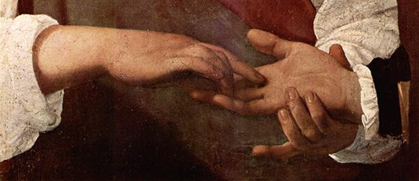 The Fortune Teller (detail), c. 1594, by Michelangelo Caravaggio