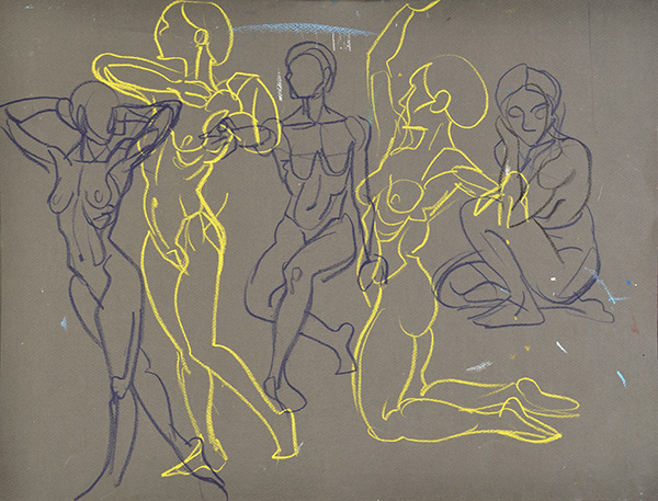 Pose Sequence, 2013, by Fred Hatt