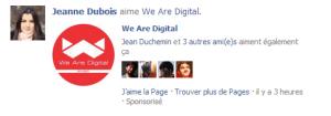 Facebook Ads - Actualité Sponsorisée