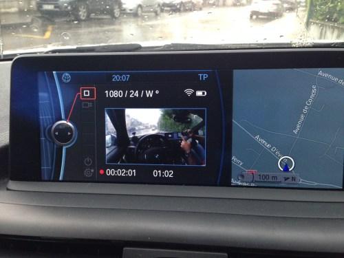 GoPro BMW : Ordinateur de bord à l'arrêt