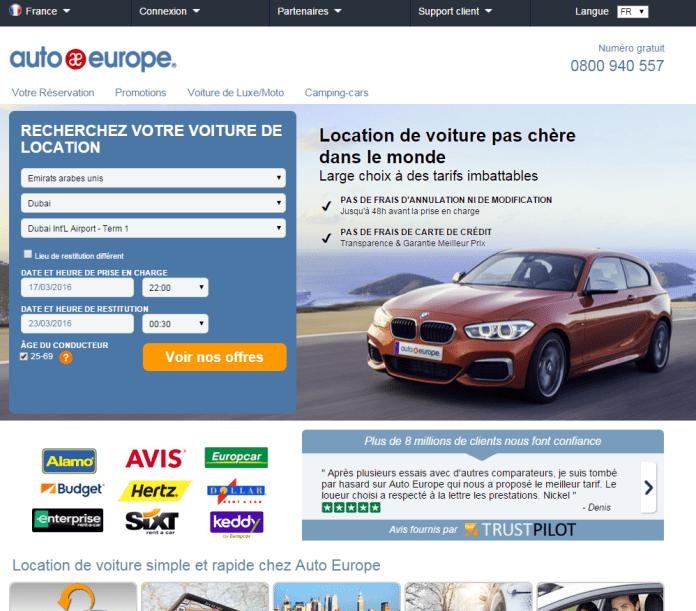 AutoEurope - HomePage