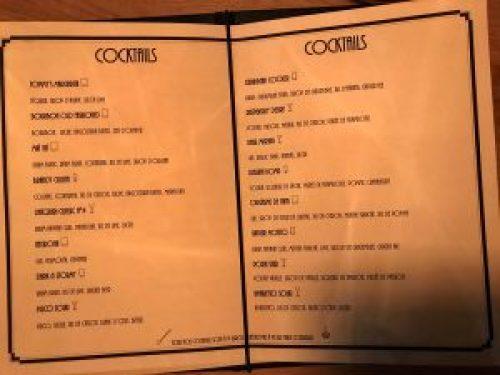 L'Alchimiste : Carte des cocktails