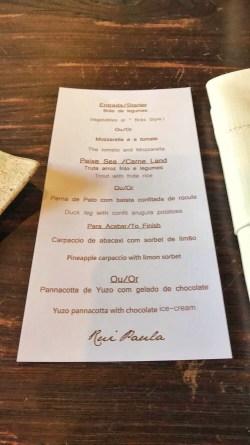 Restaurant DOP : Menu du jour