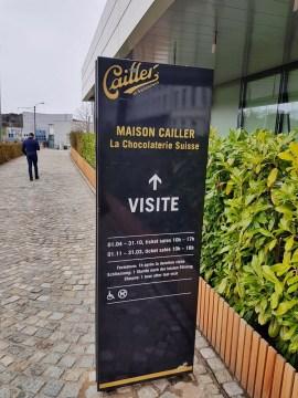Maison Cailler : Entrée de la chocolaterie Suisse
