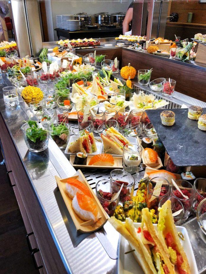 Brunch à l'hôtel Ermitage : Le buffet froid