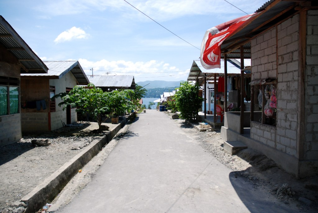 Relocation site in Ambon