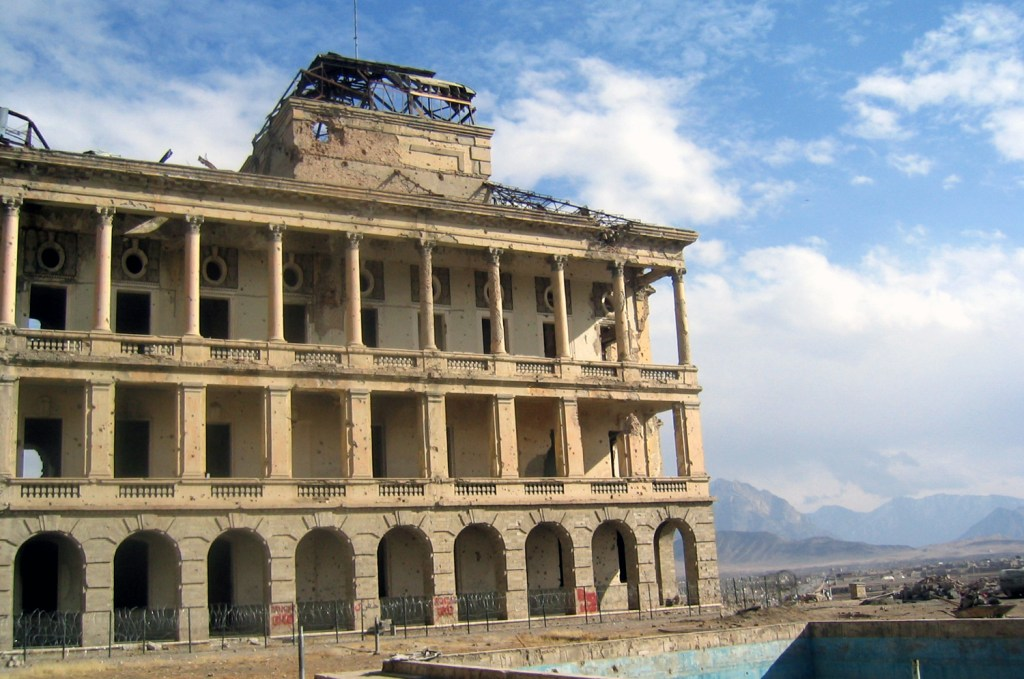 Destroyed palace
