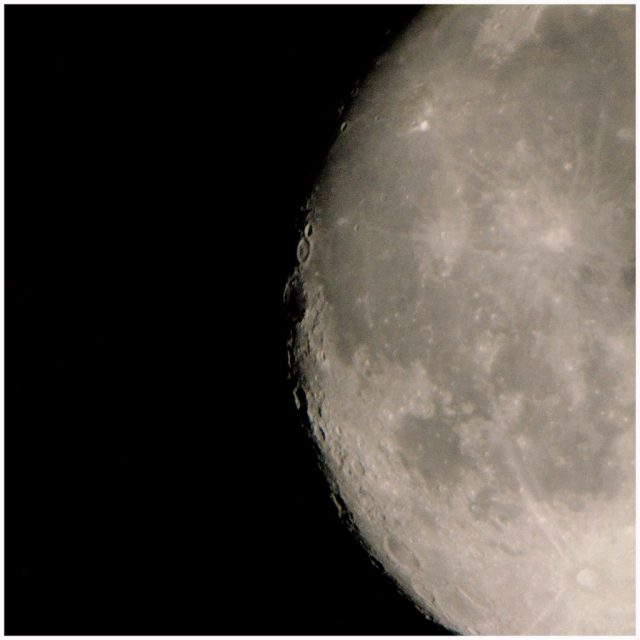 half moon half darkness
