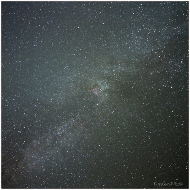Milky way around cygnus