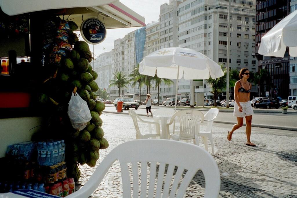 Selling coconuts in Rio