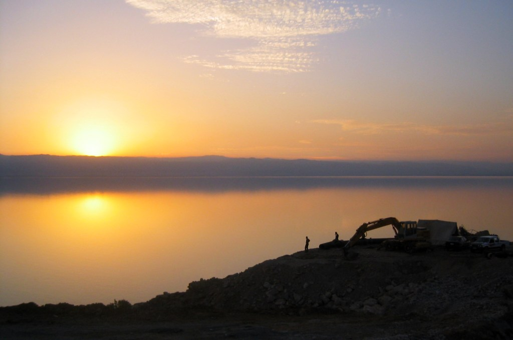 Sunset over he dead sea