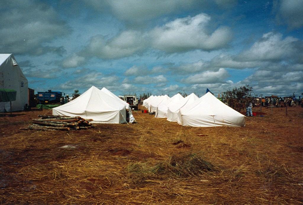tents in benaco camp