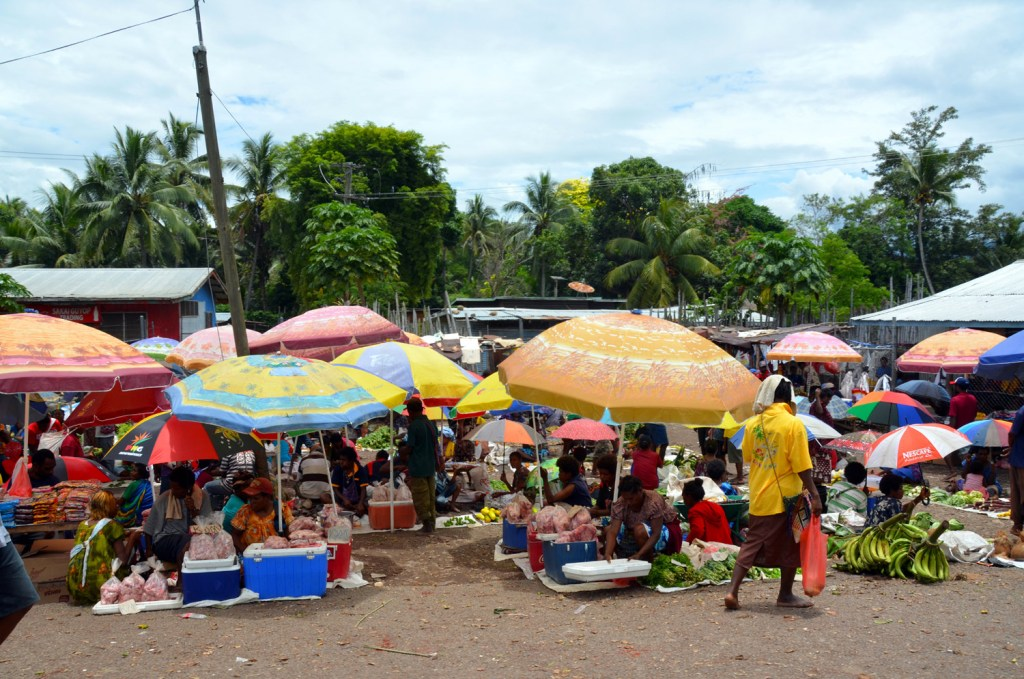 Bulolo market in Papua New Guinea