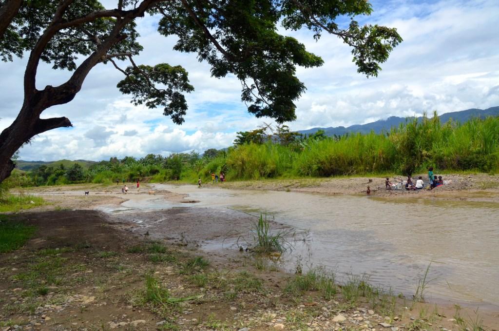 Bulolo river in Papua New Guinea