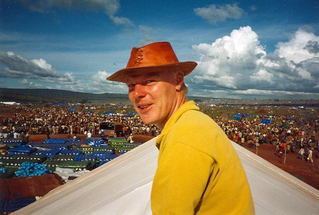 david porter on top of a rub hall