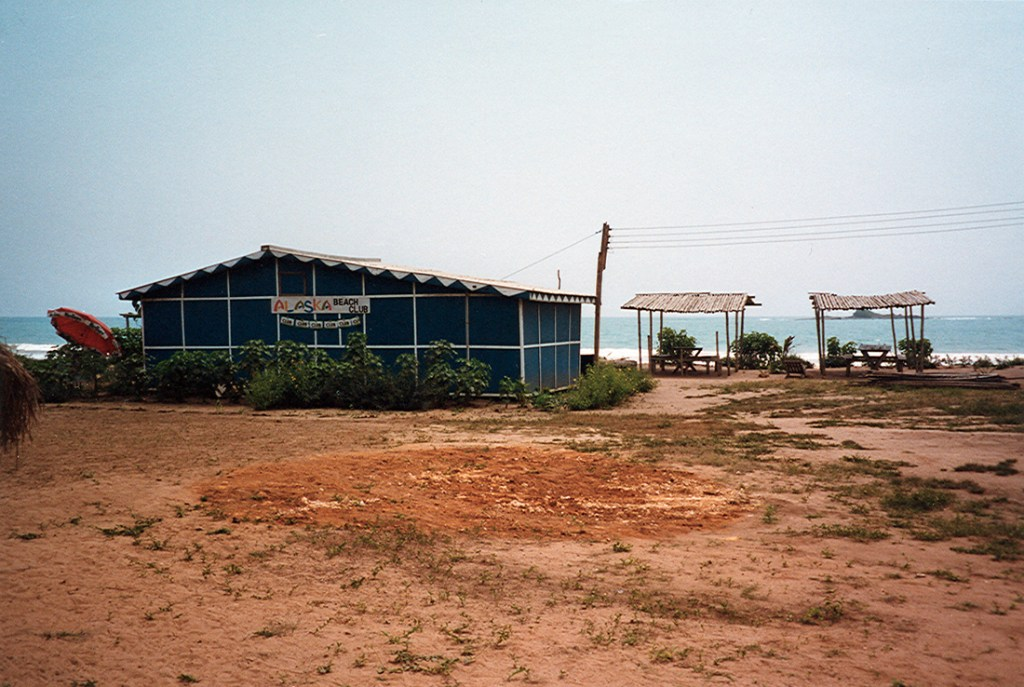 Beach restaurant on the gold coast in Ghana 1997