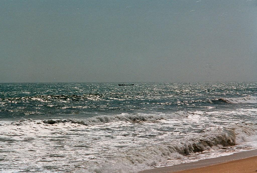 Beach on the gold coast in Ghana 1997