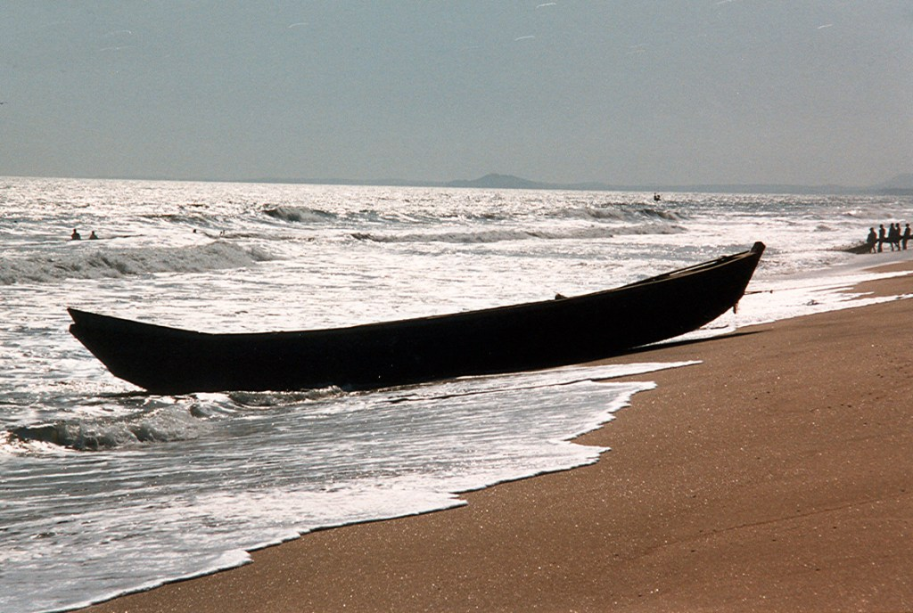 Fishing pirogue on the gold coast in Ghana 1997