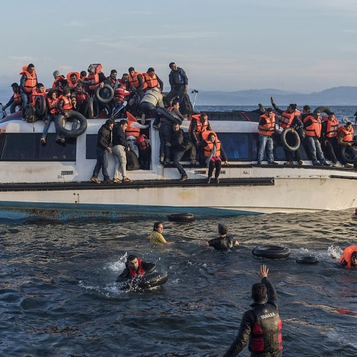 Migrants and refugees arrive in Europe