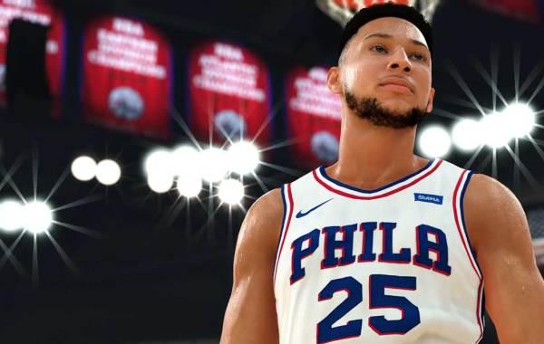 Philadelphia 76ers All-Star Ben Simmons in NBA 2K20