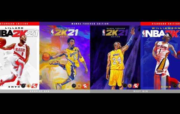 NBA 2K21 covers featuring Damian Lillard, Kobe Bryant, and Zion Williamson