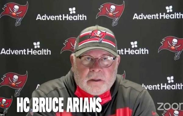 Bucs head coach Bruce Arians. Courtesy of Tampa Bay Buccaneers.